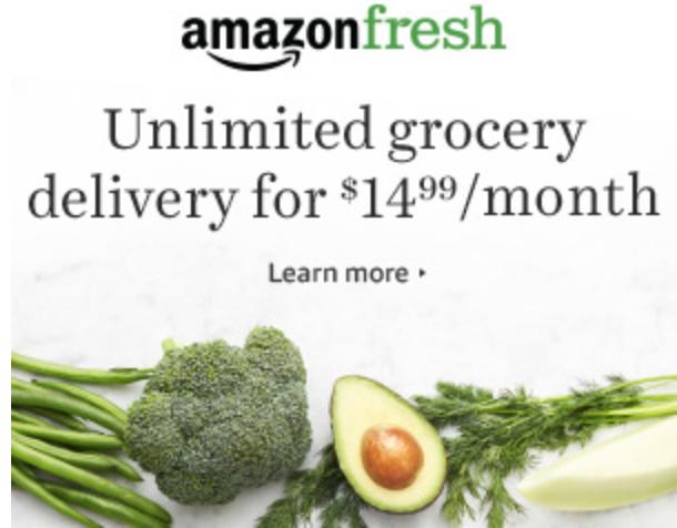 Amazon Fresh Promotion